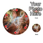 Tarantula Nebula Central Portion Playing Cards 54 (Round)  Front - Heart7