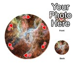 Tarantula Nebula Central Portion Playing Cards 54 (Round)  Front - Heart9