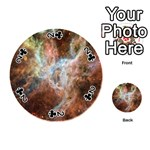 Tarantula Nebula Central Portion Playing Cards 54 (Round)  Front - Club2