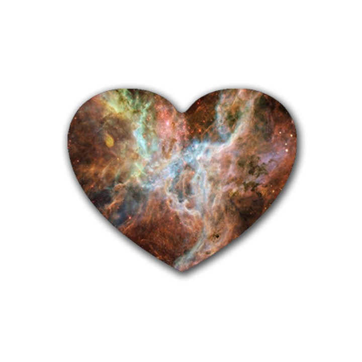 Tarantula Nebula Central Portion Rubber Coaster (Heart)