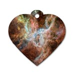 Tarantula Nebula Central Portion Dog Tag Heart (Two Sides) Back