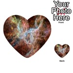 Tarantula Nebula Central Portion Multi-purpose Cards (Heart)  Back 19
