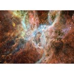 Tarantula Nebula Central Portion Heart 3D Greeting Card (7x5) Back