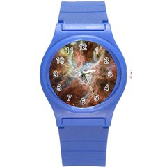 Tarantula Nebula Central Portion Round Plastic Sport Watch (S)