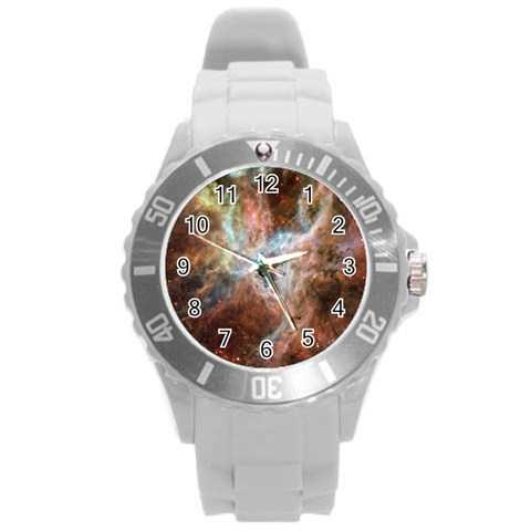 Tarantula Nebula Central Portion Round Plastic Sport Watch (L)