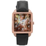 Tarantula Nebula Central Portion Rose Gold Leather Watch  Front