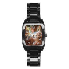 Tarantula Nebula Central Portion Stainless Steel Barrel Watch