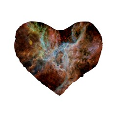 Tarantula Nebula Central Portion Standard 16  Premium Flano Heart Shape Cushions