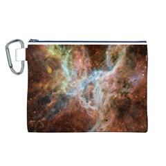 Tarantula Nebula Central Portion Canvas Cosmetic Bag (L)