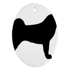Akita Silo2 Ornament (Oval)