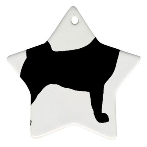 Akita Silo2 Ornament (Star)
