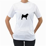Akita Silo2 Women s T-Shirt (White) (Two Sided) Front