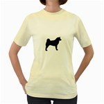 Akita Silo2 Women s Yellow T-Shirt Front
