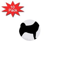 Akita Silo2 1  Mini Buttons (10 pack)