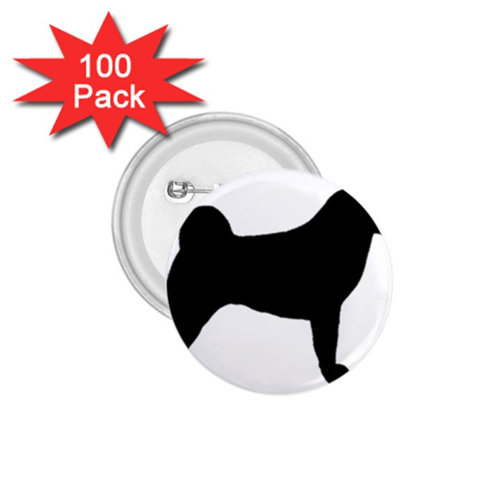 Akita Silo2 1.75  Buttons (100 pack)