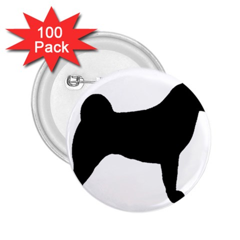 Akita Silo2 2.25  Buttons (100 pack)