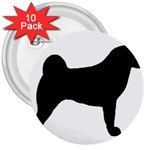 Akita Silo2 3  Buttons (10 pack)  Front