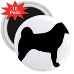Akita Silo2 3  Magnets (10 pack)  Front