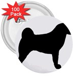 Akita Silo2 3  Buttons (100 pack)  Front