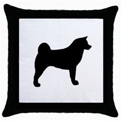 Akita Silo2 Throw Pillow Case (Black)