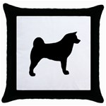 Akita Silo2 Throw Pillow Case (Black) Front