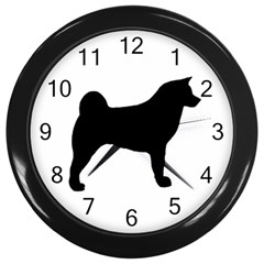 Akita Silo2 Wall Clocks (Black)