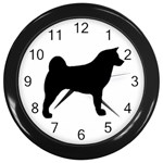 Akita Silo2 Wall Clocks (Black) Front