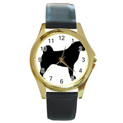 Akita Silo2 Round Gold Metal Watch