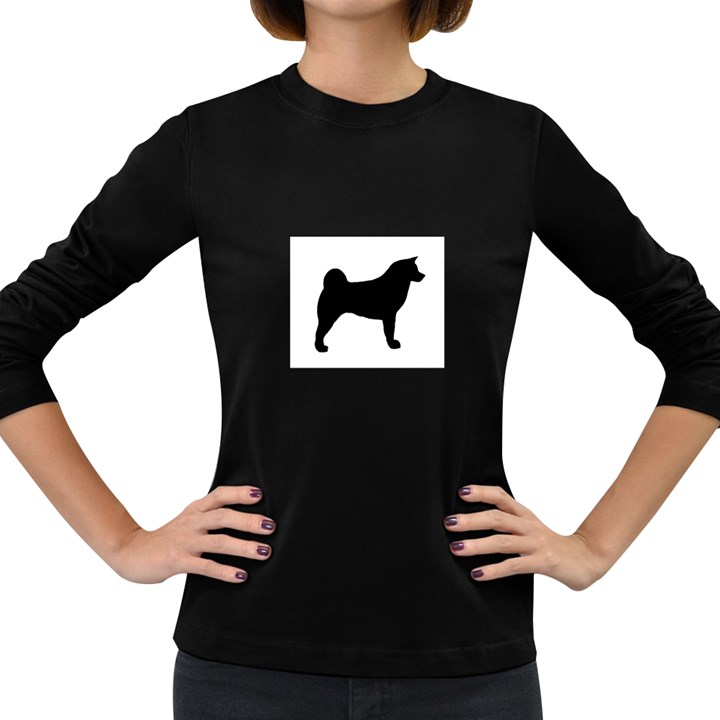 Akita Silo2 Women s Long Sleeve Dark T-Shirts