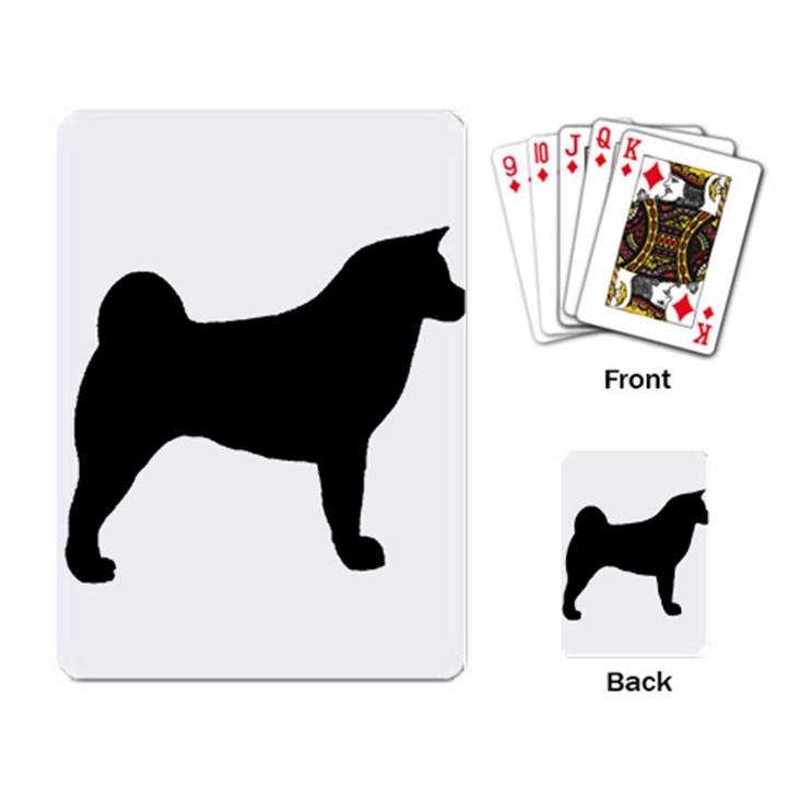 Akita Silo2 Playing Card