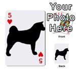 Akita Silo2 Playing Cards 54 Designs  Front - Heart5