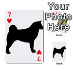 Akita Silo2 Playing Cards 54 Designs  Front - Heart7