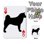 Akita Silo2 Playing Cards 54 Designs  Front - HeartQ