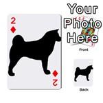Akita Silo2 Playing Cards 54 Designs  Front - Diamond2