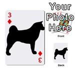 Akita Silo2 Playing Cards 54 Designs  Front - Diamond3