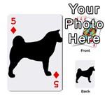 Akita Silo2 Playing Cards 54 Designs  Front - Diamond5
