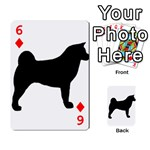 Akita Silo2 Playing Cards 54 Designs  Front - Diamond6