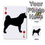 Akita Silo2 Playing Cards 54 Designs  Front - Diamond7