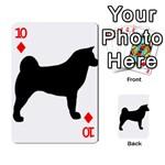 Akita Silo2 Playing Cards 54 Designs  Front - Diamond10