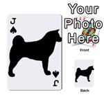 Akita Silo2 Playing Cards 54 Designs  Front - SpadeJ