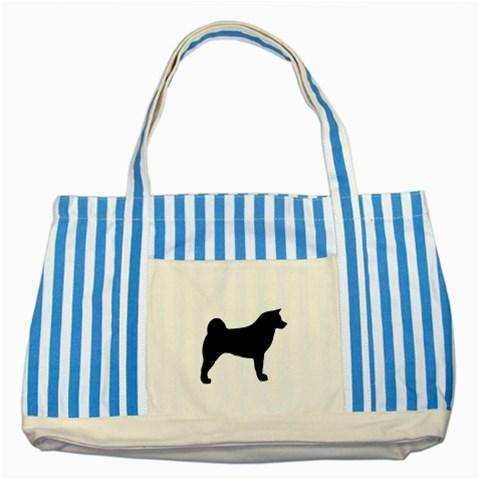 Akita Silo2 Striped Blue Tote Bag
