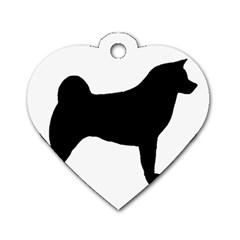 Akita Silo2 Dog Tag Heart (Two Sides)