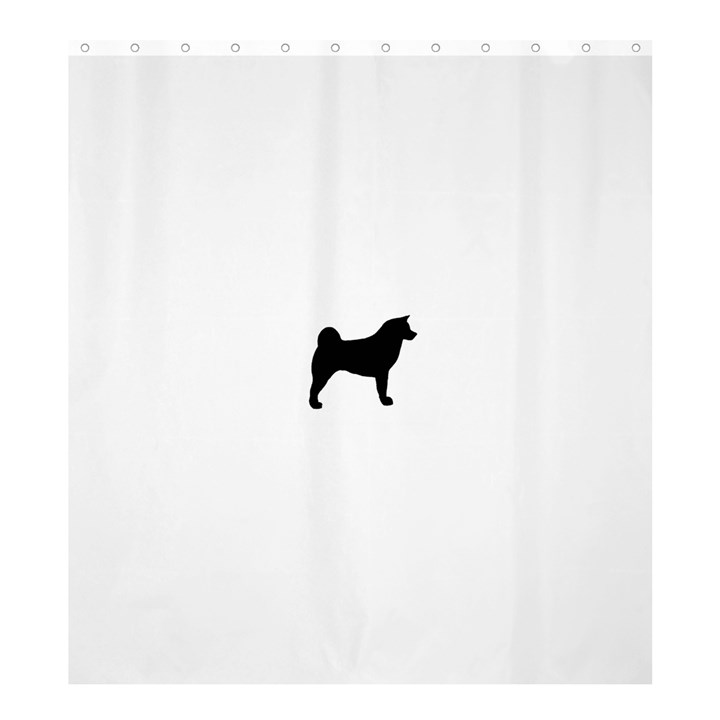 Akita Silo2 Shower Curtain 66  x 72  (Large)