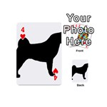 Akita Silo2 Playing Cards 54 (Mini)  Front - Heart4
