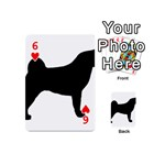 Akita Silo2 Playing Cards 54 (Mini)  Front - Heart6