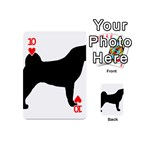 Akita Silo2 Playing Cards 54 (Mini)  Front - Heart10