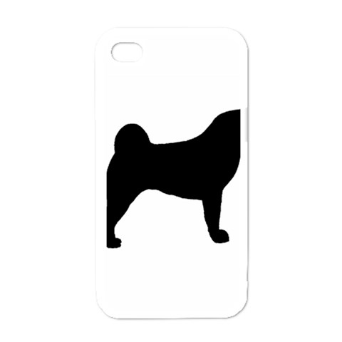 Akita Silo2 Apple iPhone 4 Case (White)