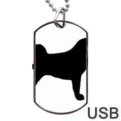 Akita Silo2 Dog Tag USB Flash (Two Sides)