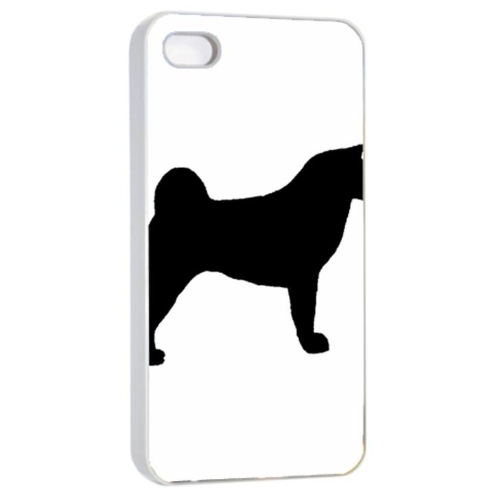 Akita Silo2 Apple iPhone 4/4s Seamless Case (White)