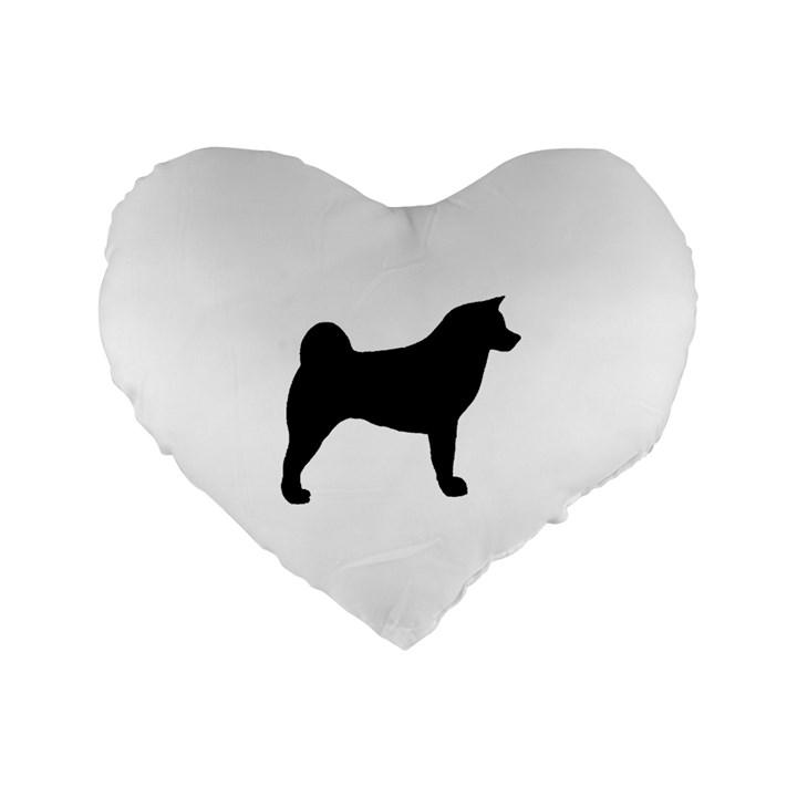 Akita Silo2 Standard 16  Premium Heart Shape Cushions